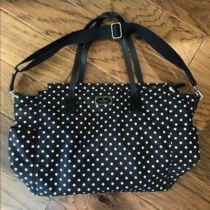 kate spade black/white dot diaper bag